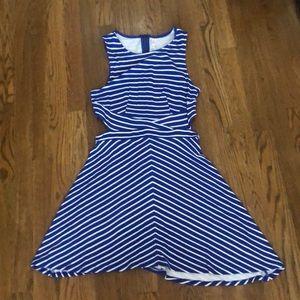 Xhilaration Blue Striped Dress